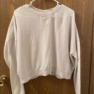Kendall & Kylie cropped white sweater